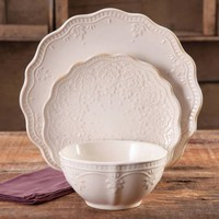 The Pioneer Woman Farmhouse Lace Dinnerware Set, 12-Piece - Walmart.com