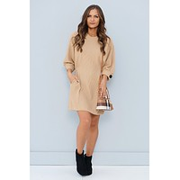 Near Or Far Dress (Latte)