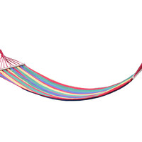 Rainbow Striped Single Hanging Hammock