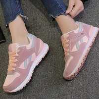 REEBOK Women Men Casual Running Sport Shoes Sneakers Pink