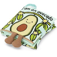 I Am An Avocado Soft Book by Jellycat