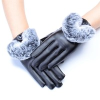 Fashion Leather Winter Gloves
