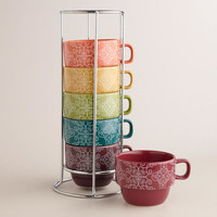 Nouveau Gate Stacking Mugs, Set of 6 | World Market