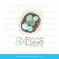 OOAK Premade Logo Design - Six Eggs - Perfect for a nature photographer or a crafts supplies shop
