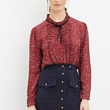 Buttoned Two-Pocket Skirt