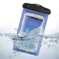 Underwater Waterproof Case Bag With Armband for Samsung Galaxy Note 3,Note 2,LG G2,Samsung S4 ,Galaxy S3 ,Nokia Lumia 1020,HTC ONE (Blue)