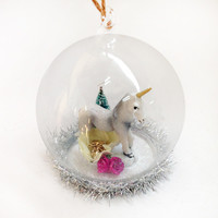 Unicorn Globe Ornament