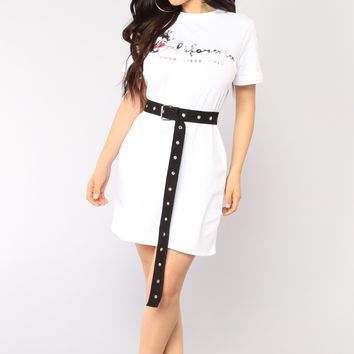 California Vibes Tunic - White