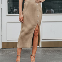 Autumn and winter knitted skirts soft Fashion slit skirt slim bag hip skirt casual
