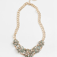 Bianca Light Blue Pearl Statement Necklace