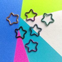 Star Jewelry for ear piercings daith rook titanium and surgical steel body jewelry