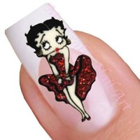 Betty Boop Nail Art Decal / Tattoo / Sticker