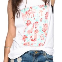 Glamour Kills Young Wild Floral Box Muscle Tee