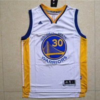 Golden State Warriors #30 Stephen Curry White Jersey