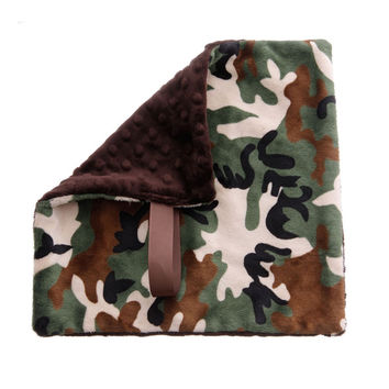 BB Emerald Soft Pacifier Binky Baby Blanket - Camo