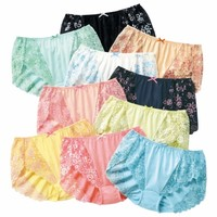 100% Cotton Back Lace Panties 10-Pack - Panties - nissen Global - online store for clothing