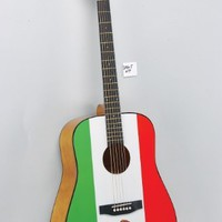 Eleca Mexican Flag Acoustic Guitar