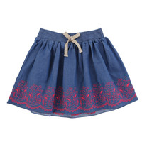 Billieblush Chambray Skirt with Embroidery - U13033/Z77 - FINAL SALE