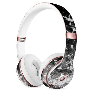 Black and White Grungy Marble Surface Full-Body Skin Kit for the Beats by Dre Solo 3 Wireless Headphones