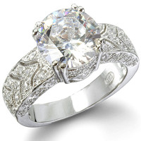 The Cadence Sterling Silver Diamond CZ Vintage Ring