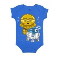Star Wars Cute Droid Royal Blue Baby Romper Onesuit