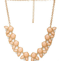 FOREVER 21 Angular Accents Necklace Gold/Pink One
