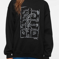 Urban Outfitters - Junk Food Keith Harring Black & White Sweatshirt