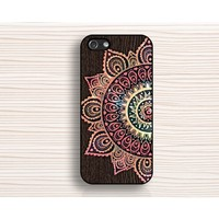 mandala iphone 6 case,iphone 6 plus case,art flower IPhone 5 case,wood flower IPhone 5s case,wood mandala IPhone 5c case,mandala flower IPhone 4 case,art design IPhone 4s case - IPhone Case