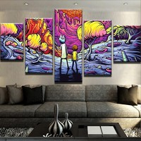 Psychedelic Rick and Morty Canvas Set