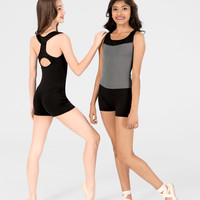 Free Shipping - Adult Two-Tone Tank Shorty Unitard by BAL TOGS