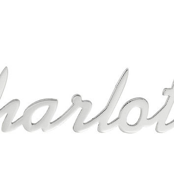 NAME NECKLACE SCRIPT FONT - STAINLESS STEEL