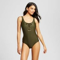 Women's Lace Up One Piece - Mossimo™ : Target
