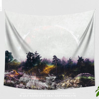 Forest Art Tapestry, Nature Wall Tapestry, Wanderlust Wall Hanging, Bohemian Wall Decor, Photography, Woods, Wall Art, Mountain, Dorm Room