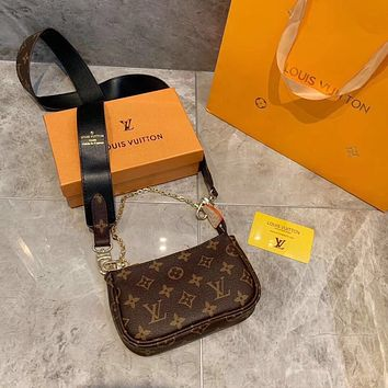 LV Louis Vuitton OFFICE QUALITY MONOGRAM CANVAS HANDBAG SHOULDER BAG