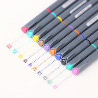 10 Colors Set 0.38MM Fine Liner Multicolour Colored Marker Pens Watercolor Based Art Markers For Manga Anime Sketch Drawing Pen