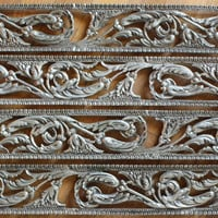 """4 Nickel Plated Floral Panels 22"""" long Furniture Accents"""