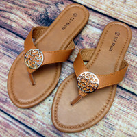 THE CADENCE SANDALS IN TAN