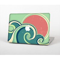"The Vector Retro Green Waves Skin Set for the Apple MacBook Pro 13""   (A1278)"