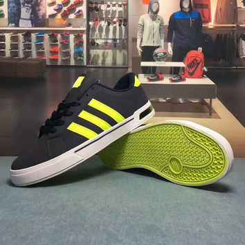 """""""Adidas NEO"""" Fashion Casual Multicolor Stripe Unisex Sneakers Couple Plate Shoes Running Shoes"""