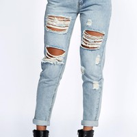 Gemma All Over Ripped 7/8th Jeans