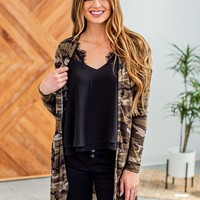 When You Know Camo Cardigan