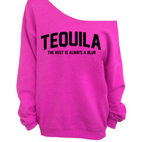 Slouchy Oversized Sweater - Tequila - The rest is always a blur - Pink