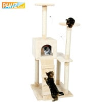 Cat Climbing Tree Cat Fun Scratching Solid Wood Cats Climb Frame Good Quality Pet Supplies 3 Colors