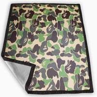Bape Military Camouflage Camo Army Blanket for Kids Blanket, Fleece Blanket Cute and Awesome Blanket for your bedding, Blanket fleece **