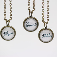 Necklace, name necklace, personalized necklace, Christmas gift