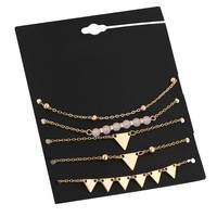 New Arrival Cute Ladies Gift Shiny Sexy Jewelry Stylish Bracelet Set Simple Design Accessory Anklet [10794298759]