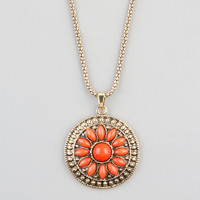 FULL TILT Flower Medallion Necklace 234154621 | Necklaces