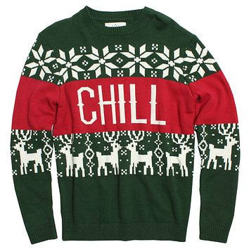 CHRISTMAS SWEATER, CHILL VIBES