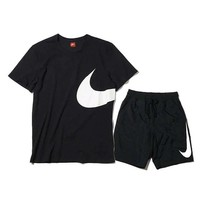 Nike short - sleeved men's summer T-shirt round neck half - sleeved cotton shorts fitness running suit