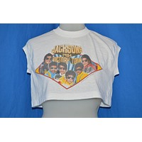 80s Jacksons 1984 Victory Tour Crop Top t-shirt Medium